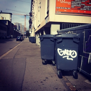 #streetart #tagging by #gano in #zurich near #freedstar
